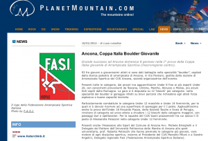 Planet Mountain su Riccardo ad Ancona